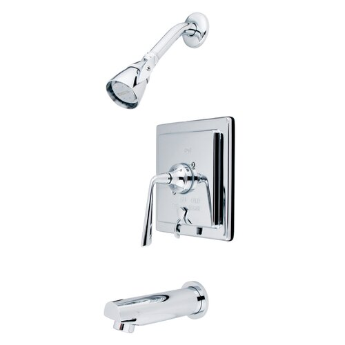 Elements of Design Silver Sage Single Handle Tub and Shower Faucet with Diverter