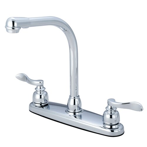 NuWave French Double Handle Centerset High Arch Kitchen Faucet