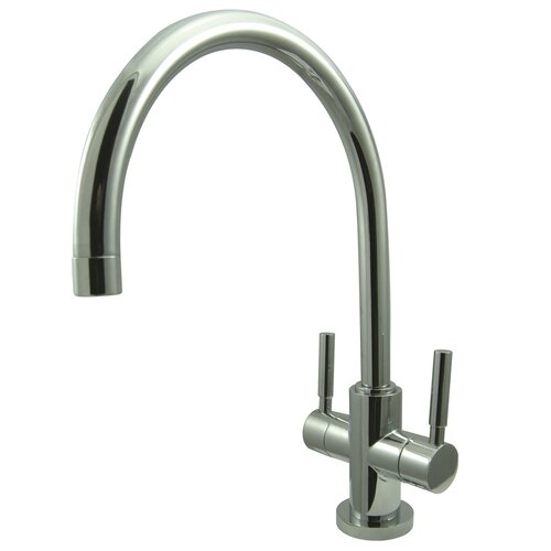 Concord Double Handle Single Hole Vessel Sink Faucet without Pop-Up and Plate