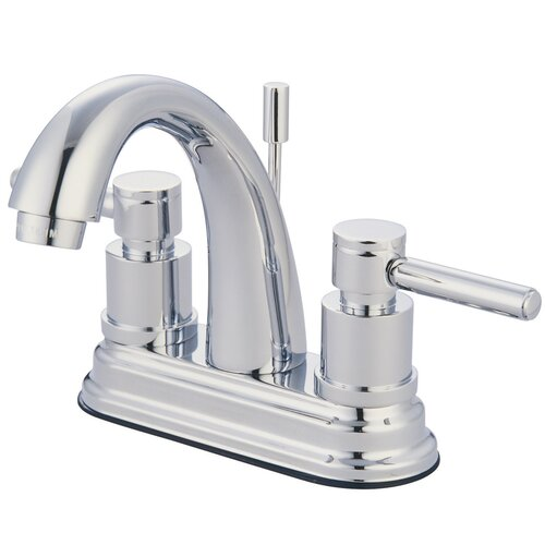 Elements of Design Concord Double Handle Deck Mount Bathroom Faucet