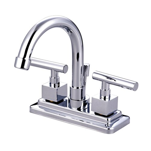 Elements of Design Rio Double Handle Centerset Bathroom Faucet with Pop-up