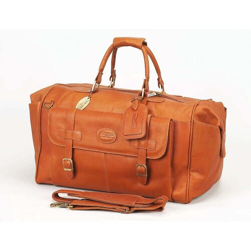 "Claire Chase Millionaire's 24"" Leather Carry-On Duffel"