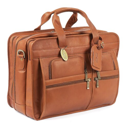 Claire Chase Jumbo Executive Leather Laptop Briefcase