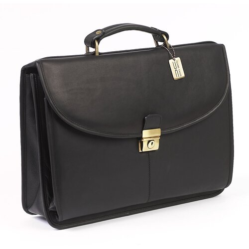 Claire Chase Lawyer's Leather Laptop Briefcase