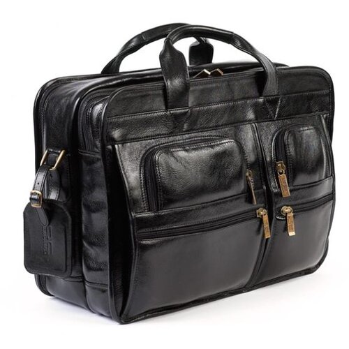 Italian Leather Laptop Briefcase