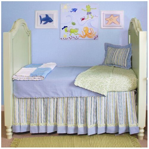 Surfer Toddler Coverlet and Pillow