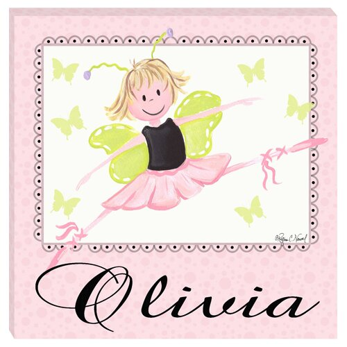 Doodlefish Personalized Ballerina Giclee Canvas Art