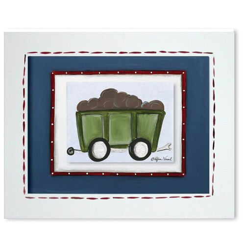 Doodlefish Transportation Railcar Giclee Framed Art