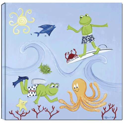 Frog Scuba Giclee Canvas Art