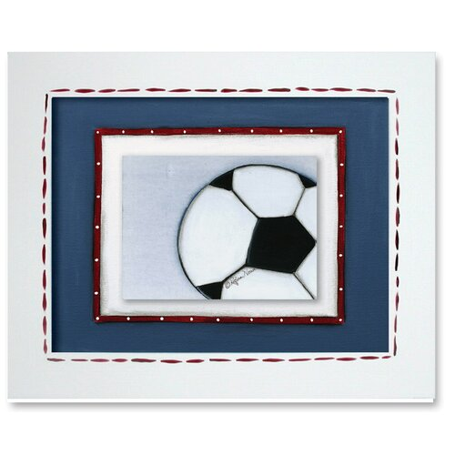 Doodlefish Sports Soccer Ball Giclee Framed Art