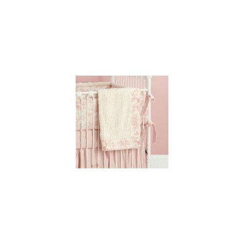 Doodlefish Toile Crib Blanket