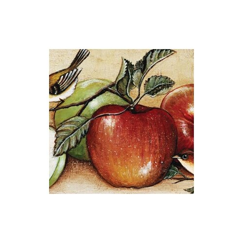 "Magic Slice 12"" x 15"" Apples and Warblers Design Cutting Board"