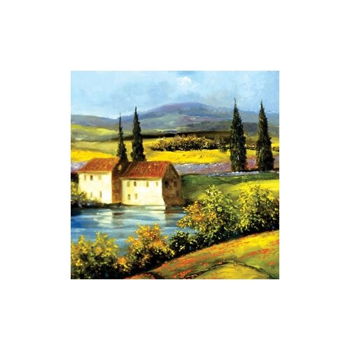 "Magic Slice 12"" x 15"" Tuscan Scene Design Cutting Board"