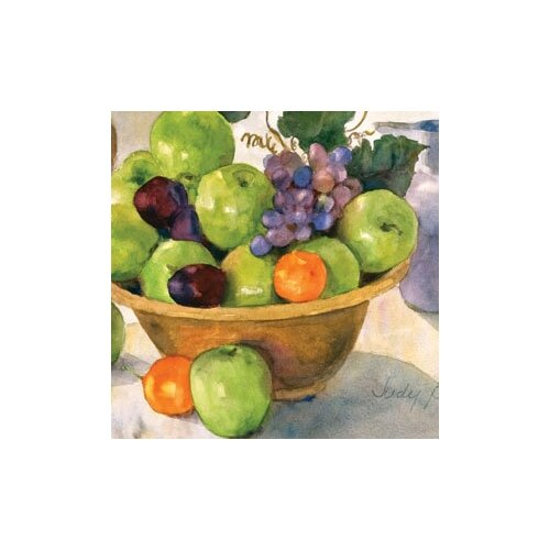 "Magic Slice 12"" x 15"" Green Apples Design Cutting Board"