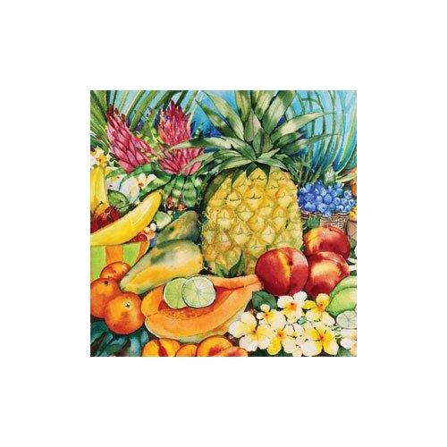 "Magic Slice 12"" x 15"" Tropical Fruit Design Cutting Board"