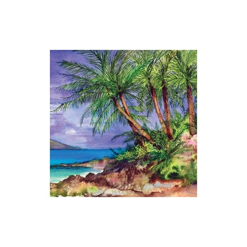 "Magic Slice 12"" x 15"" Palm Island Design Cutting Board"