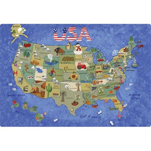 """Magic Slice 7.5"""" x 11"""" USA Map Design Cutting Board"""