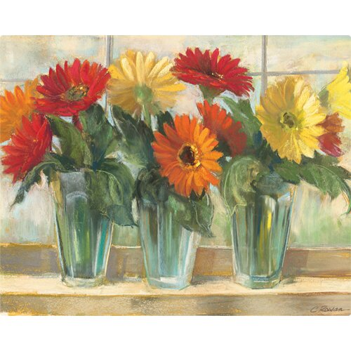 "Magic Slice 12"" x 15"" Gerberas in Glass Valley Design Cutting Board"