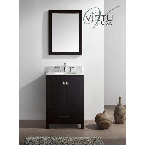 """Virtu Caroline Avenue 24.8"""" Single Sink  Bathroom Vanity Set"""