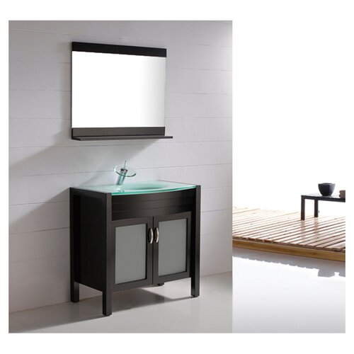 "Virtu Vina 35.4"" Single Bathroom Vanity Set"