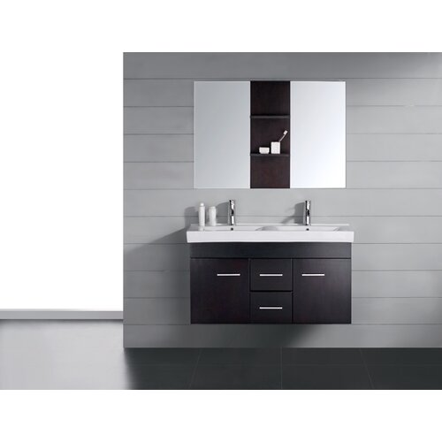 "Virtu Opal 47.2"" Double Bathroom Vanity Set"