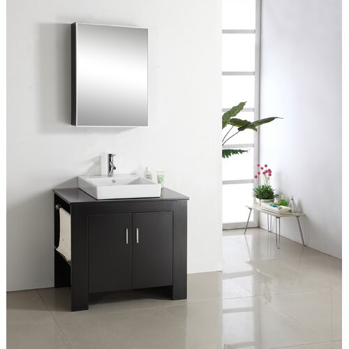 "Virtu Tavian 36.2"" Single Bathroom Vanity Set"