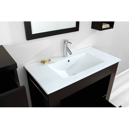"Virtu Masselin 35.4"" Single Bathroom Vanity Set"
