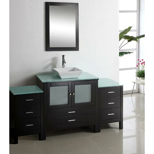 "Virtu Brentford 71"" Single Bathroom Vanity Set"