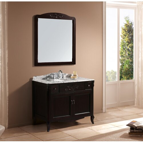 "Virtu Kaileena 40.5"" Single Sink Bathroom Vanity Set"