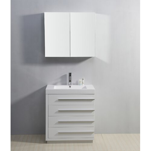 "Virtu Bailey 29.1"" Single Bathroom Vanity Set"