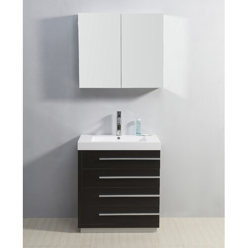 "Virtu Bailey 29.1"" Single Bathroom Vanity Set"