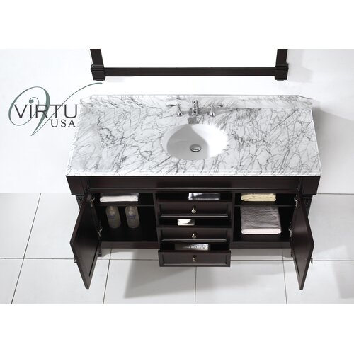 "Virtu Huntshire 59.25"" Single Sink Bathroom Vanity Set"