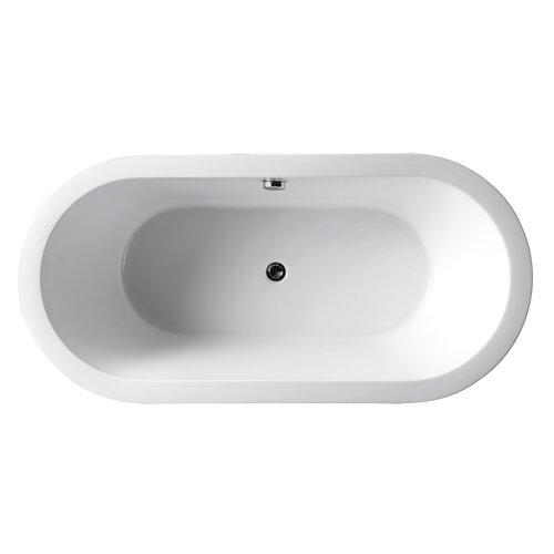 """Virtu Serenity 70"""" x 32"""" Bathtub"""