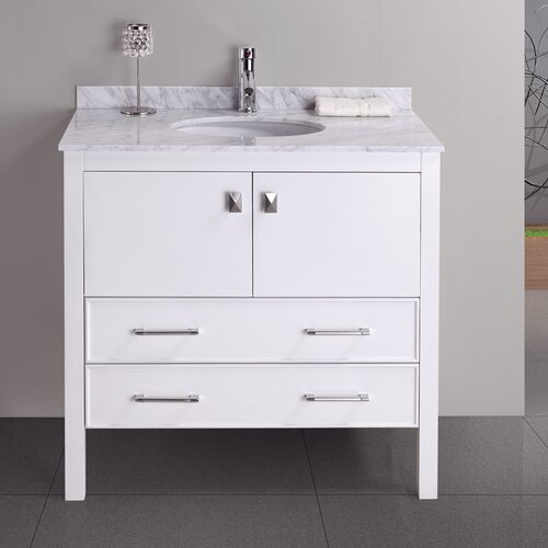 "Virtu Adalynn 34.6"" Bathroom Vanity Set"