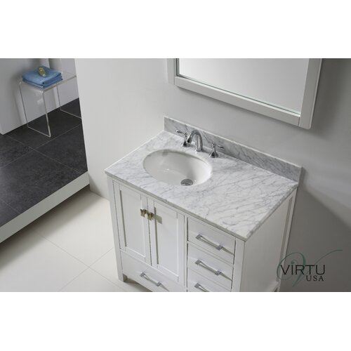 "Virtu Caroline Avenue 36.8"" Single Sink Bathroom Vanity Set"