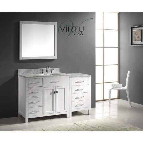 "Virtu Caroline Parkway 57"" Single Bathroom Vanity Set"