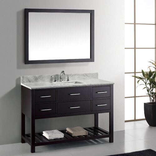 "Virtu Caroline Estate 48"" Single Bathroom Vanity Set with Square Sink"
