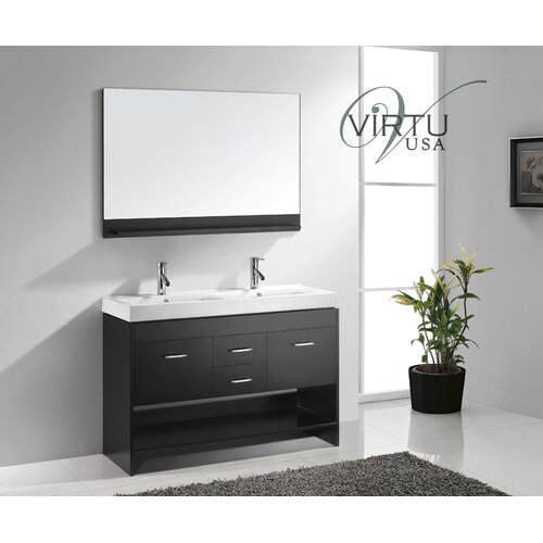 "Virtu Gloria 48"" Double Sink Bathroom Vanity Set"