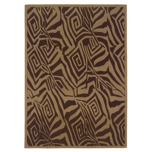 Linon Rugs Trio Chocolate/Beige Rug