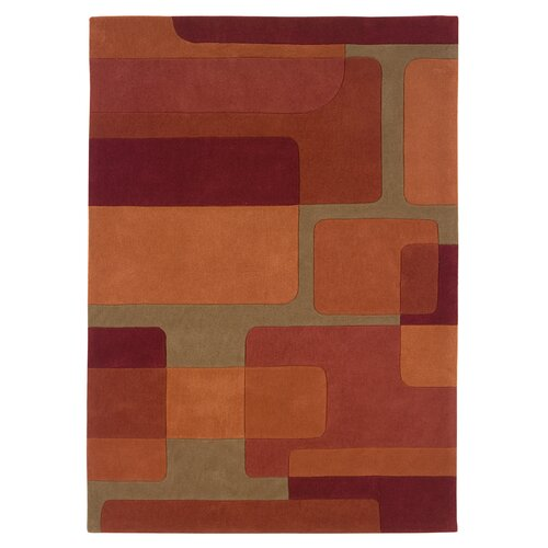 Linon Rugs Trio Orange/Pumpkin Rug