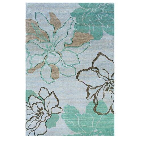 Linon Rugs Milan Ivory/Turquoise Rug
