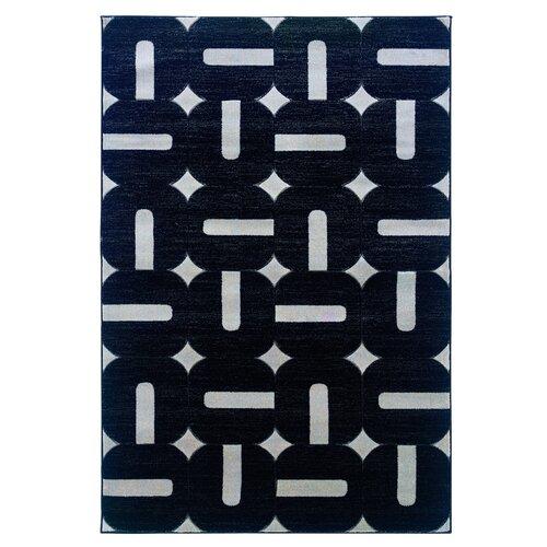Linon Rugs Milan Black/Grey Rug