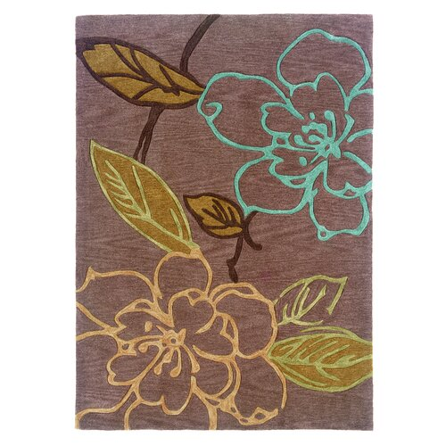 Linon Rugs Trio Space Dyed Thistle/Brown Rug