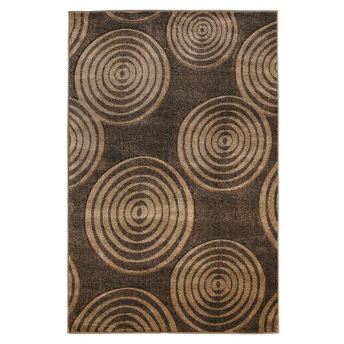 Milan Circle Brown Rug
