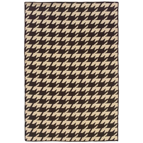 Linon Rugs Salonika Brown Houndstooth Rug