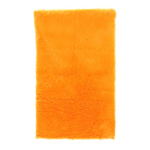 Linon Rugs Faux Sheepskin Orange Rug