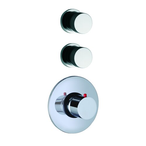 Fima by Nameeks De Soto Built-In Thermostatic Valve Trim with Two Volume Control Handles