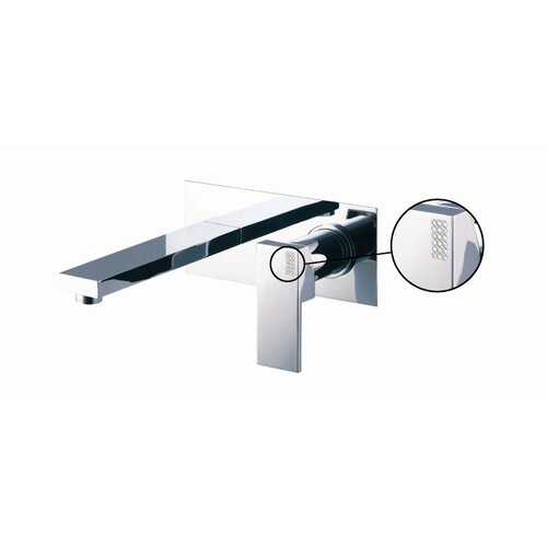 Brick Wall Mounted Bathroom Sink Faucet with Single Lever Handle
