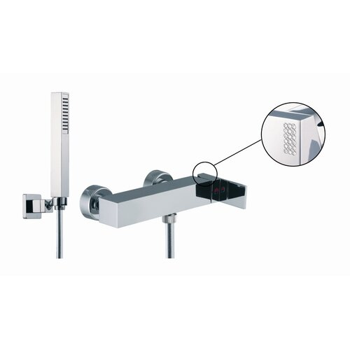 Fima by Nameeks Brick Chic Wall Mount Thermostatic Shower Faucet