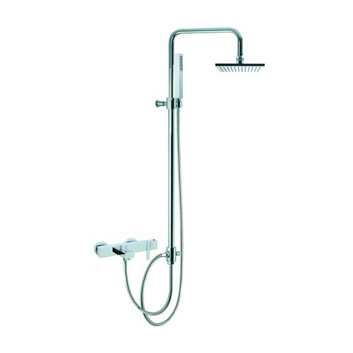 Fima by Nameeks Brick Wall Mount Thermostatic Tub and Shower Faucet with Hand Shower